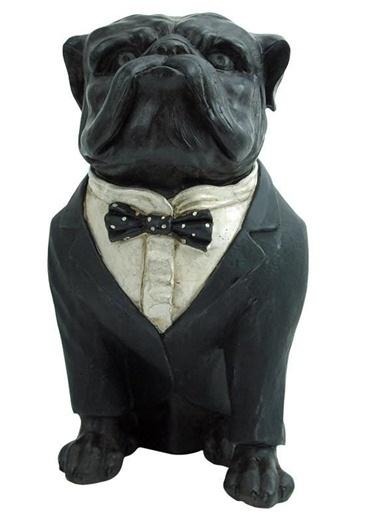 Warm Design Dekoratif Bull Dog Siyah